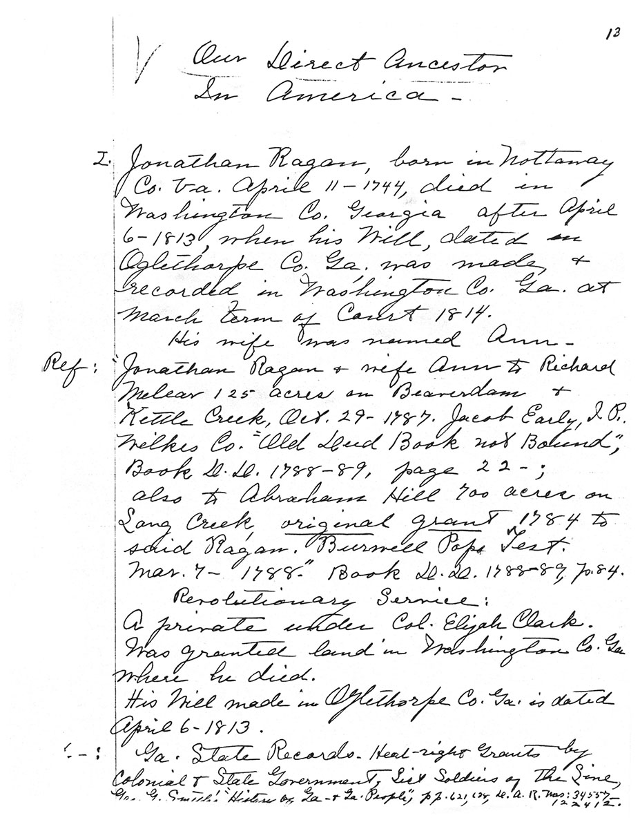 Amelia E. Cutliff Notes, Page 1